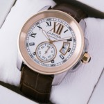 Fake Cartier Calibre de Cartier Two-Tone 18k Rose Gold & Steel Automatic Watches W7100011