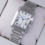Fake Cartier Tank Anglaise Stainless Steel Medium Unisex Watches