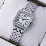 Fake SWISS Cartier Santos Demoiselle Stainless Steel Ladies Watches WF9004Y8 Cheap