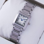 Faux Cartier Tank Francaise Stainless Steel Ladies imitation Watch W51008Q3