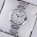 Imitation Ballon Bleu de Cartier Stainless Steel Diamonds Dial Unisex Watches