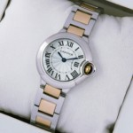 Imitation Cartier Ballon Bleu Two-Tone 18kt Pink Gold Small Ladies Watches