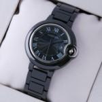 Replica Ballon Bleu de Cartier Medium Black Ceramic Unisex Watches