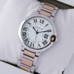 Replica Cartier Ballon Bleu de Cartier Midsize Two-Tone 18K Pink Gold Unisex Watches
