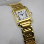 Replica Cartier Tank Francaise 18K Yellow Gold Diamonds Ladies Watches Cheap