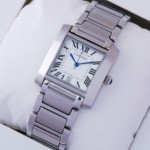 Replica Cartier Tank Francaise Stainless Steel Mens replica Watch W51002Q3