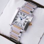 Replica Cartier Tank Francaise Two-Tone Yellow Gold Mens Watches