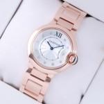 Replica SWISS Ballon Bleu de Cartier 18K Rose Gold Diamonds Dial Unisex Watches