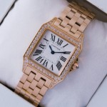 Replica SWISS Cartier Santos Demoiselle Diamonds 18K Rose Gold Mens Watches