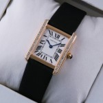 Replica SWISS Cartier Tank Solo 18kt Rose Gold Diamonds Ladies Watches