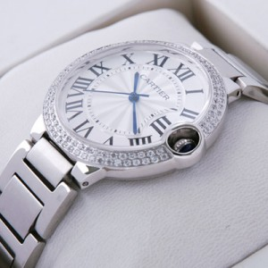 Cartier Ballon Bleu de Cartier Midsize Two Rows Diamonds Bezel