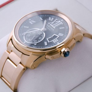 Cartier Calibre de Cartier 18kt Rose Gold Brown Dial Automatic