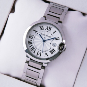 Imitation-Cartier-Ballon-Bleu-de-Cartier-Date-Midsize-Stainless-Steel-Unisex-Watches