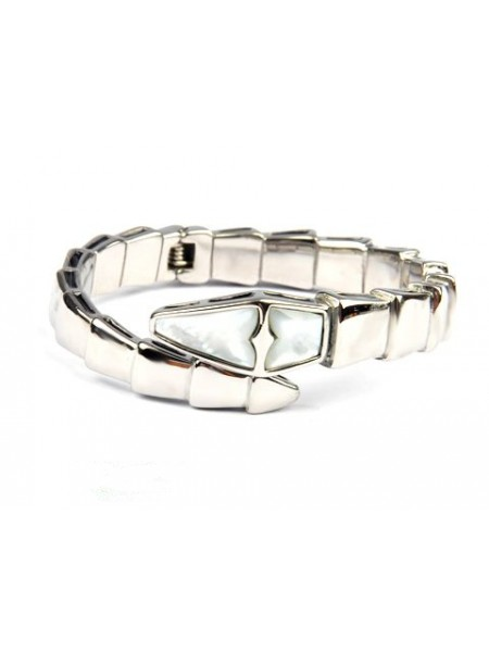 Bvlgari Serpenti bracelet in 18kt White gold with Mother of Pearl