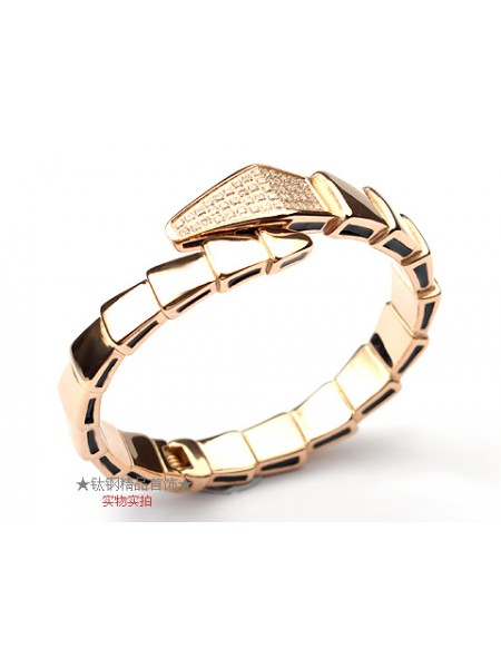 Bvlgari Serpenti bracelet in 18kt pink gold with pave Diamonds