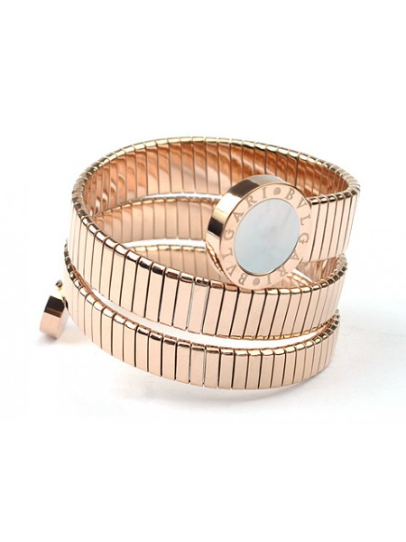 Bvlgari Serpenti bracelet in 18kt Pink gold with Mother of Pearl