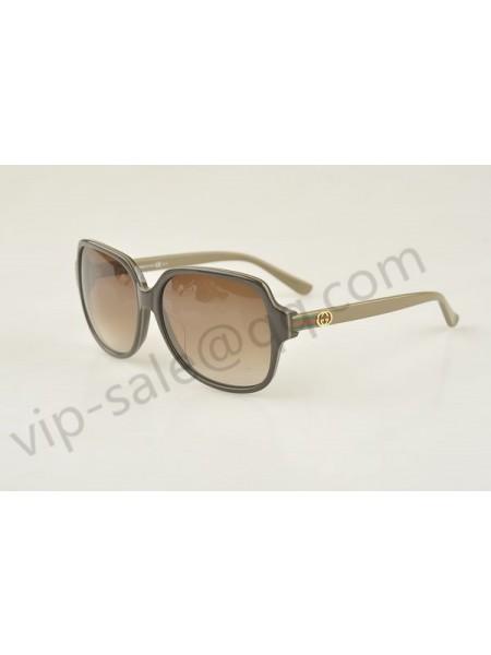 Gucci large square dark brown frame sunglasses