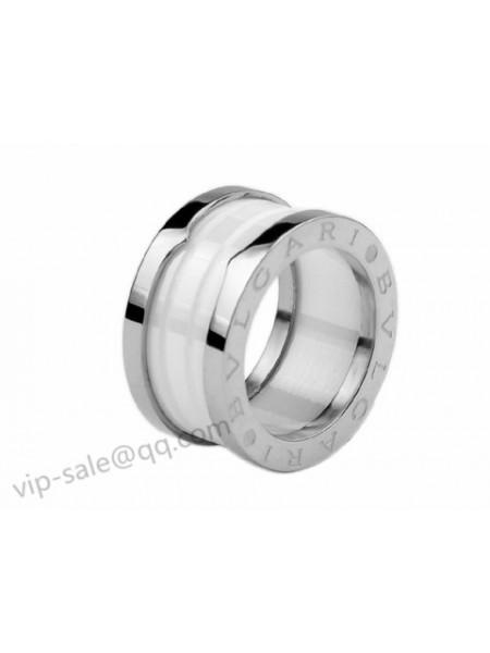 bvlgari bzero1 ring 4 band ring in 18kt white gold with white ceramic