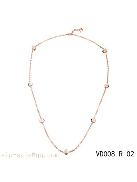Louis Vuitton gamble long necklace in pink gold