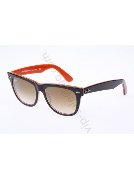 Ray Ban Wayfarer RB2140 54-18 sunglasses in Black Orange 1002 51