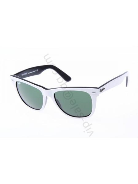 Ray Ban Wayfarer RB2140 54-18 Sunglasses in White mix Black 956