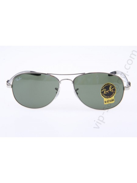 a8fb4bd4e0 Ray Ban RB8301 Aviator Carbon Fiber Tech Sunglasses in Silver Green