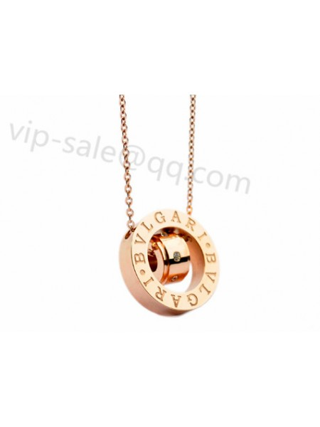 Cheap bvlgari bzero1 jewelry roll out the fake bvlgari bzero1 bvlgari bzero1 guardian two piece of love in rose gold necklace aloadofball Images