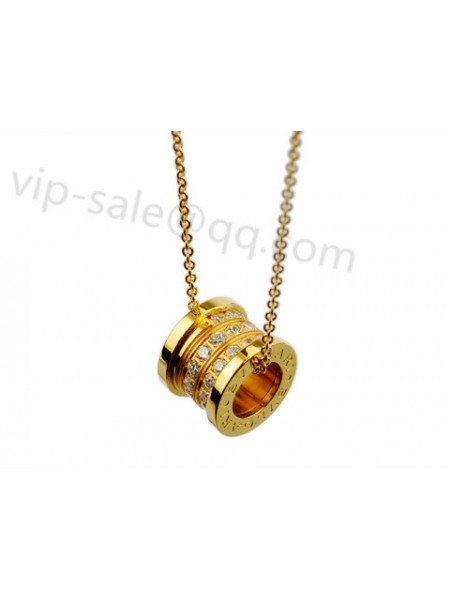 New bvlgari jewelry replica sold the fake bvlgari bzero1 necklace bvlgari bzero1 pendant necklace in 18kt yellow gold with pave diamonds aloadofball Images