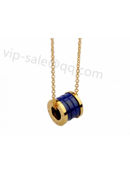 New bvlgari jewelry replica sold the fake bvlgari bzero1 necklace bvlgari bzero1 pendant necklace in 18kt pink gold with blue marble aloadofball Images