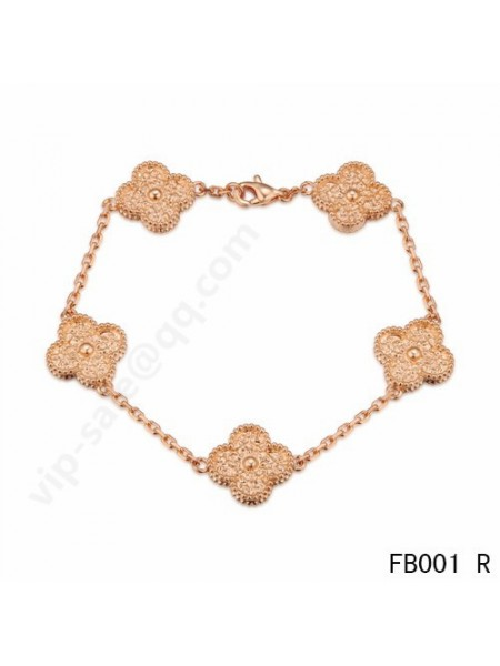 Cheap New Style Van Cleef Arpels Vintage Alhambra Bracelet And