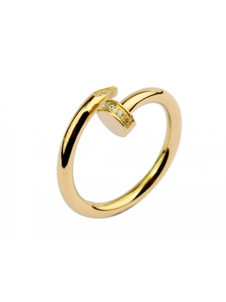 967af5e8c3f1d Cartier Juste un clou Ring in yellow gold with diamond-paved