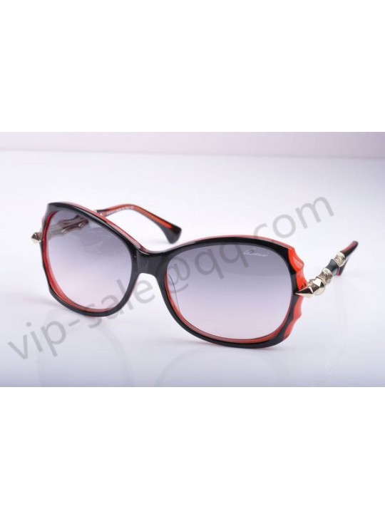 Gucci medium rectangle red-black frame sunglasses
