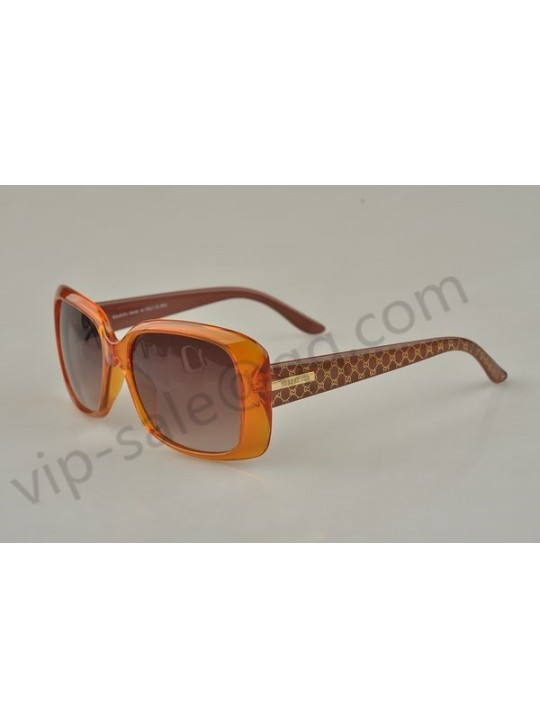 Gucci medium rectangle light brown frame sunglasses