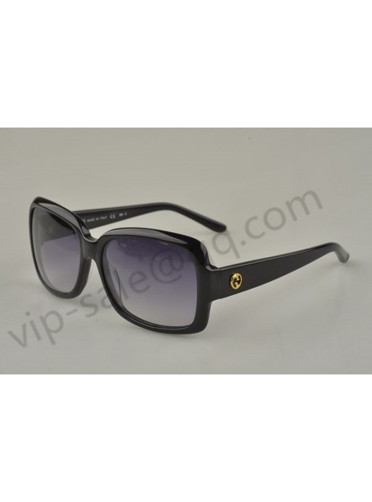 Gucci large rectangle frame sunglasses with GG logo