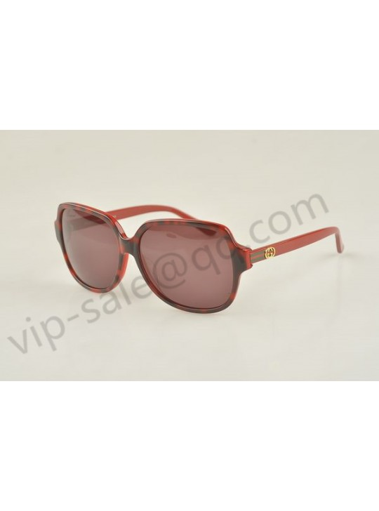 Gucci large square red and black frame sunglasses
