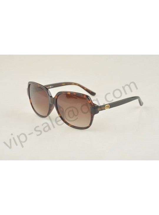 Gucci large square dark brown frame sunglasses