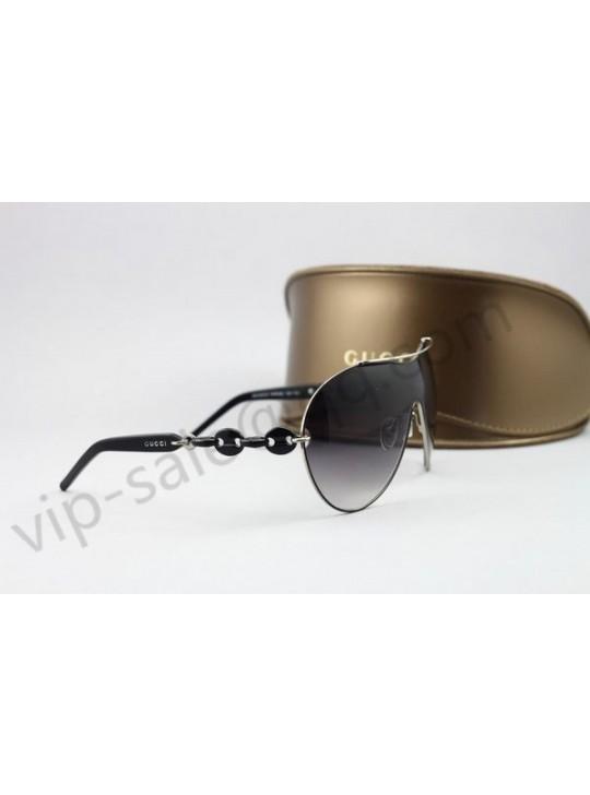 Gucci midium bow silver frame sunglasses