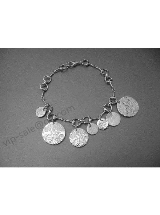 Gucci Horsebit Florad Charms Bracelet