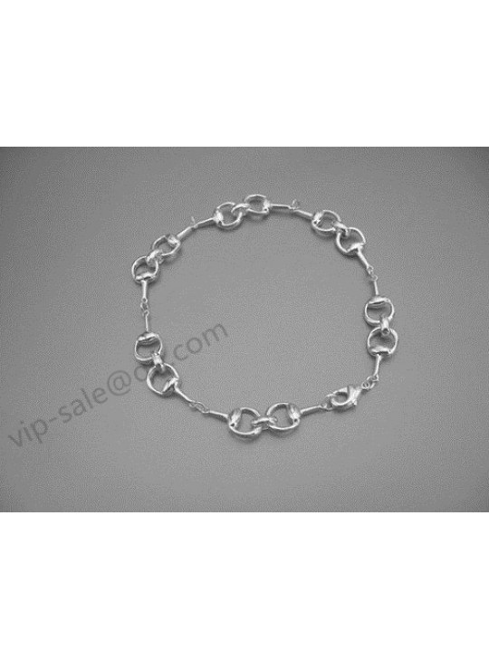 Gucci Bracelet Silver With Full Horseshoe