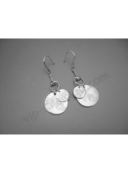 Gucci butterfly double round tags earrings