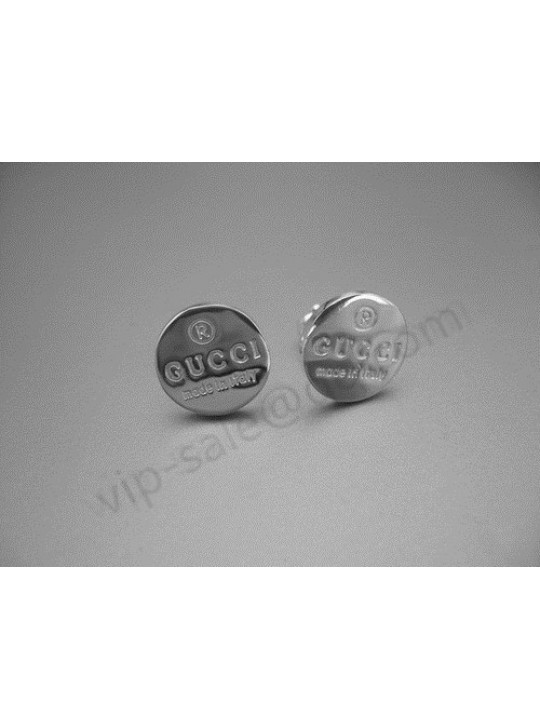 Gucci round tag engraved Earrings