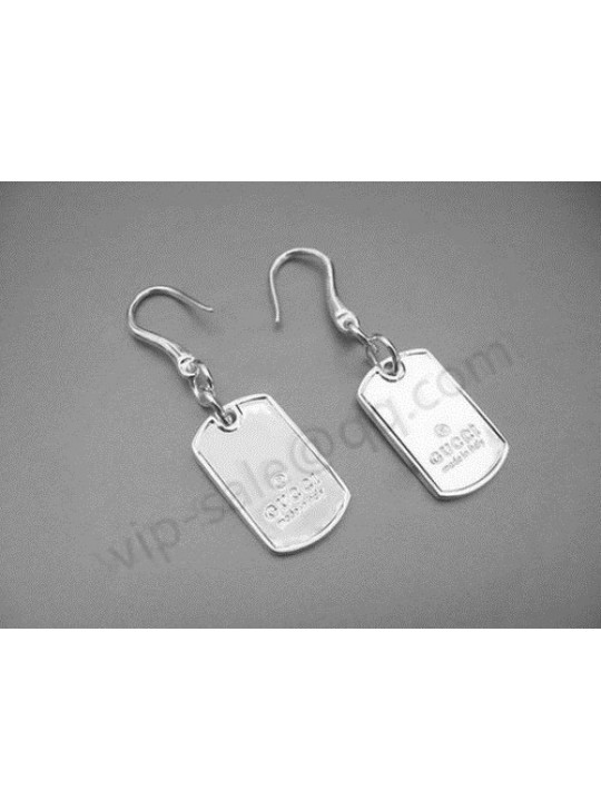 Gucci Dog Tag Earrings