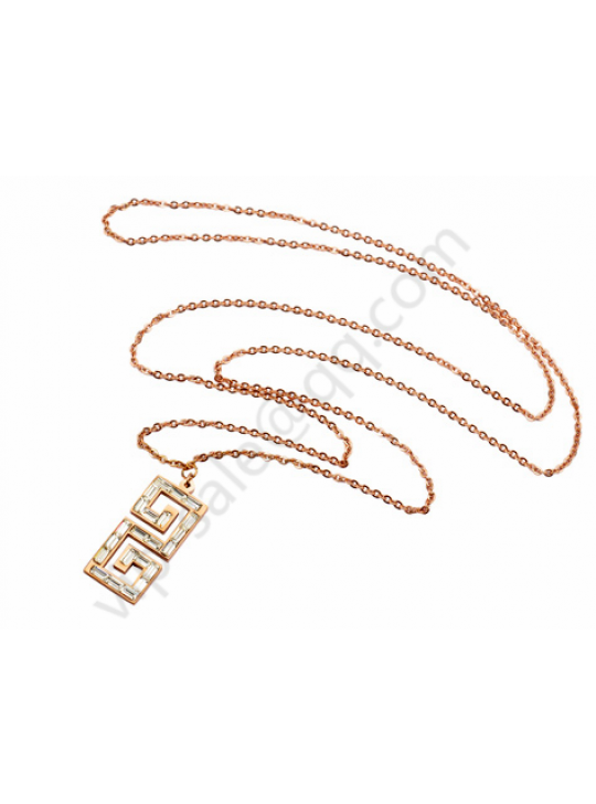 Gucci Double G rose gold necklace