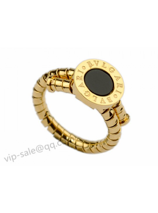Bvlgari Ring in 18kt Yellow with Black Onyx
