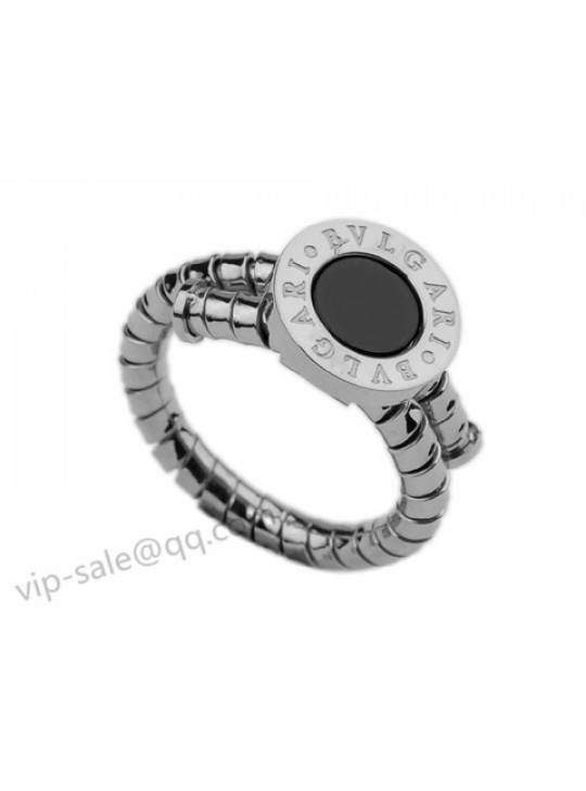 Bvlgari Ring in 18kt White Gold with Black Onyx