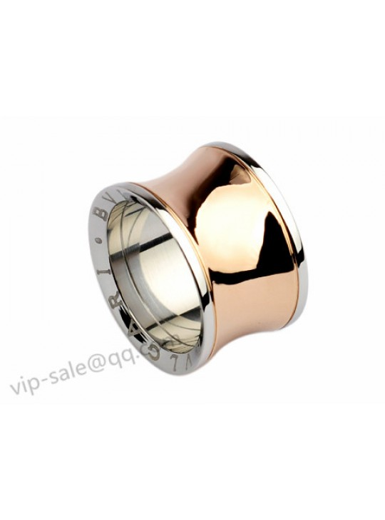 Bvlgari Anish Kapoor Ring in 18kt Pink Gold and Steel, Wide