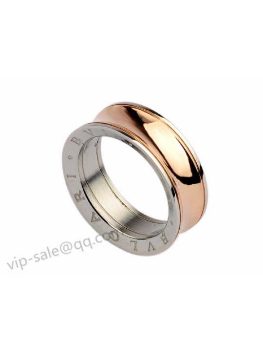 Bvlgari Anish Kapoor Ring in 18kt Pink Gold and Steel, Narrow