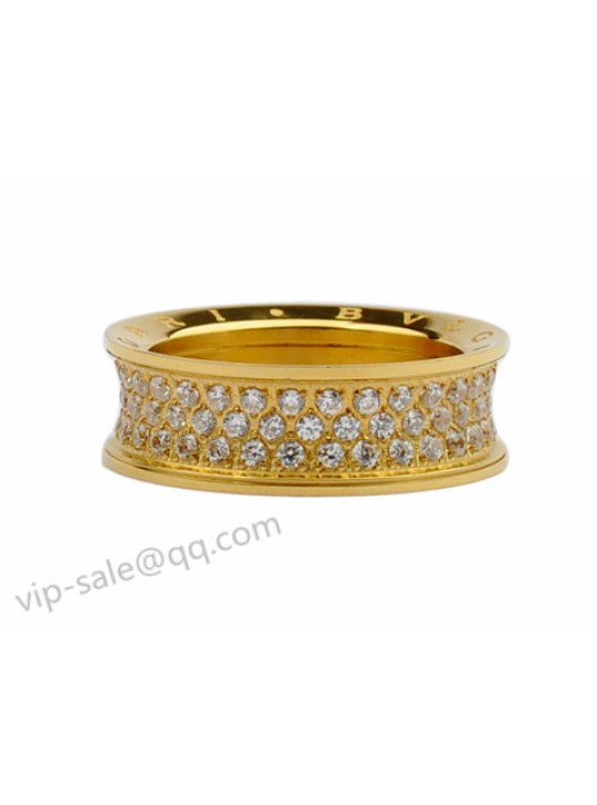 bvlgari anish kapoor ring in 18kt yellow gold with pave diamonds