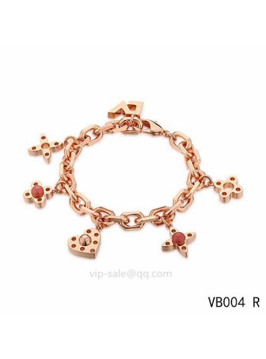 Louis Vuitton adjustable metal bracelet in the pink gold