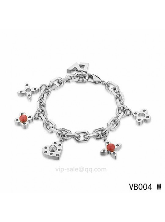 Louis Vuitton adjustable metal bracelet in the white gold
